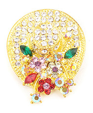 Brooch - Cocktail Hat Gold IMBCBR08052