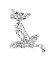 Brooch - Silver Panther IMBCBR08841