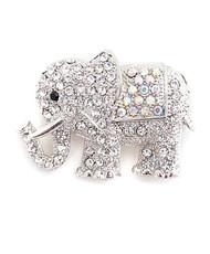 Brooch - Silver Elephant IMBCBR08891