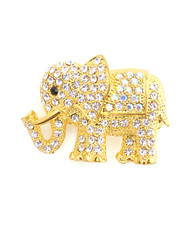 12pc. Brooch - Gold Elephant IMBCBR08892
