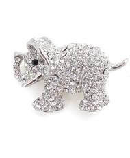 Brooch - Silver Elephant IMBCBR08902