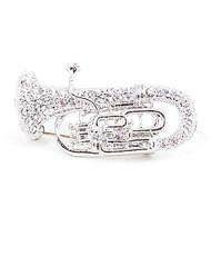 Brooch - Silver Trumpet IMBCBR09171