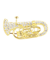 12pc. Brooch - Gold Euphonium IMBCBR09172