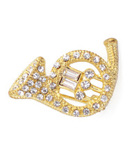Brooch - French Horn Gold IMBCBR09262