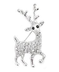 Brooch - Reindeer Silver IMBCBR09461