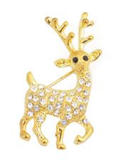 Brooch - Reindeer Gold IMBCBR09462