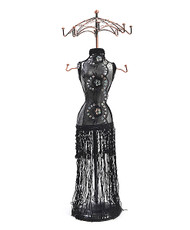 "Laced Dress 19"" Tall Mannequin Jewelry Stand JDP1023"