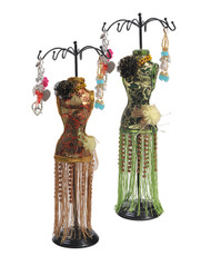 "Oriental Dress 19"" Tall Mannequin Jewelry Stand JDP1024"