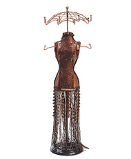 "Beaded Dress 20"" Mannequin Jewelry Stand JDP1025"