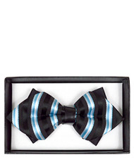 6pc Prepack Diamond Tip Banded Bow Tie DBB3030-35