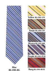 "Boy's 49"" Poly Woven Tie BL1501"
