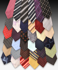 36pc Pre-pack Assorted Silk Woven Ties SWA01