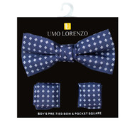 Boy's Fancy Bow Tie and Hanky Set BFTH3010