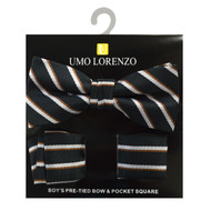 Boy's Fancy Bow Tie and Hanky Set