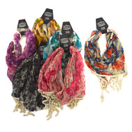 36pc Prepack 100% Viscose Fringed Scarf