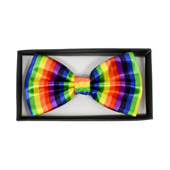 Men's Rainbow Banded Bow Tie