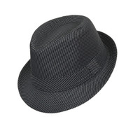 6pc Boy's Spring/Summer Gray Houndtooth Fedora Hats