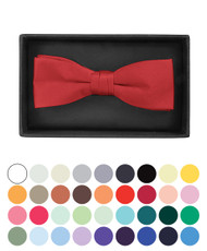 Boxed Boy's Poly Satin Banded Bow Ties - BBT1301BX