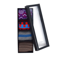 Fancy Multi Colored Socks Gift Box (4 Pairs in Box)  SFGB21