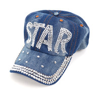"Bling Studs ""Star"" Denim Cap CP144737"