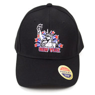 NEW YORK Statue of Liberty Black Embroidered Baseball Cap