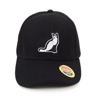 Cat Black Embroidered Baseball Cap (BCC122915CB)