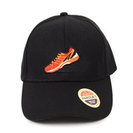 Sneaker Black Embroidered Baseball Cap (BCC011116RN)