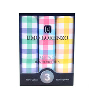 Men's 3pc. Boxed Fancy Cotton Handkerchiefs MFB1553