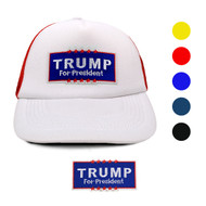2016 Trump Two Tone Foam Front Embroidery Patch Mesh Back Trucker Cap, Hat
