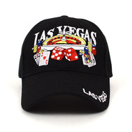 Las Vegas Black 3D Embroidered Baseball Cap, Hat EBC10280
