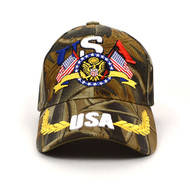 USA Camo 3D Embroidered Baseball Cap, Hat EBC10286