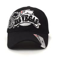Las Vegas Black 3D Embroidered Baseball Cap, Hat EBC10287