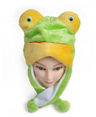 6pc Pre-Pack Animal Fleece Hats - Frog HATC1040