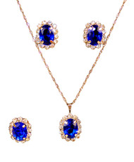 Pendant Necklace, Earrings, and Ring Set