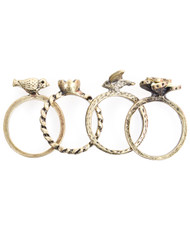 6pc Pack Size Ring Birds IMLR0326
