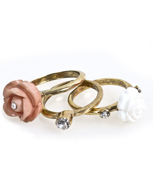 6pc Pack Size Ring Rose IMLR0328