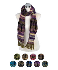 12pc Pack Women's Poly Aztec Pattern Scarf LJ1304192