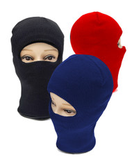 12pc Pack One Hole Open-Face Knit Ski Mask LH1001