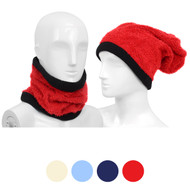 12pc Solid Acrylic 2-in-1 Head and Neck Warmer LS1020