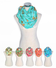 12pc Assorted Viscose Infinity Scarf LS4480IF