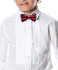 "Kid's 1.5"" Poly Plaid Banded Bow Ties BBT4004"