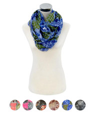 12 Pcs Assorted Viscose Infinity Scarf LS4430IF