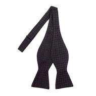 Silk Fancy Black Freestyle Bow Tie FBS1702
