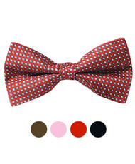 Boxed Silk Printed Banded Bow Tie SBB2010