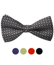 Boxed Silk Printed Banded Bow Tie SBB2020