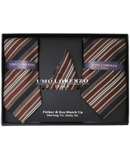 Father & Son Matching Tie & Hanky Set FSTHB-11
