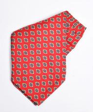 Red Silk Printed Ascot SPA2180