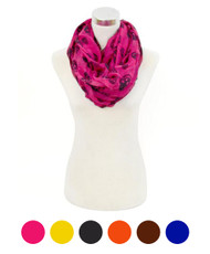 12pc Assorted Light Viscose Infinity Scarf LS4490IF