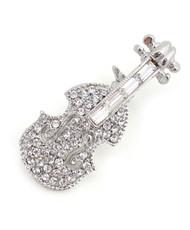 Brooch - Silver Violin IMBCBR09322