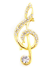 Brooch - Musical Note Gold IMBCBR09192